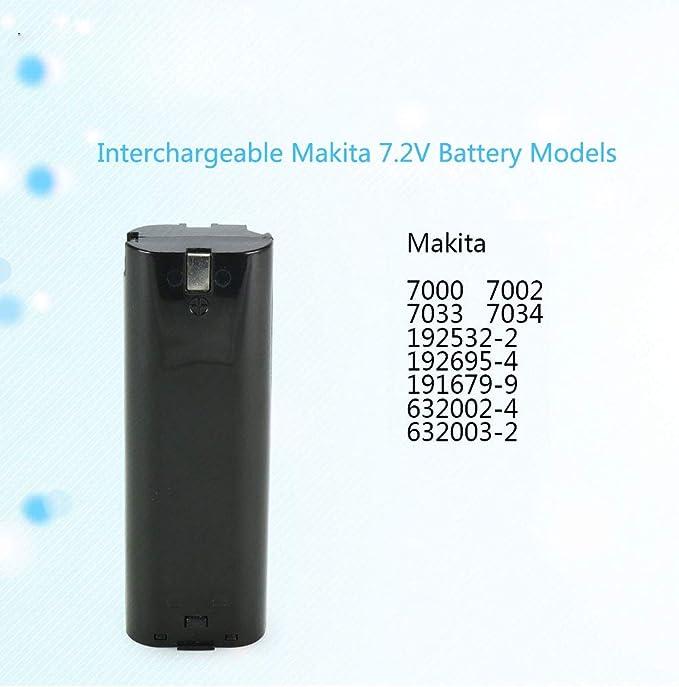 Akku für Makita NICD 7000 7001 7002 632002-4 632003-2 191676-9 192532-2 7,2V 2ah