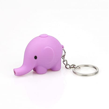 Happy event portachiavi a forma di elefante cartone animato con