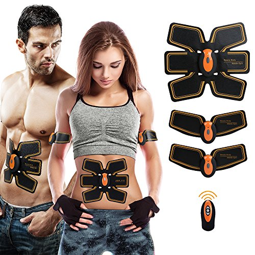 Shengmi Abdominal Toning Belt,Abs Trainer Body Muscle Toner, Waist Trimmer Belt, Abs Fit Training, Ab Belt Toning Gym Workout Machine,Unisex Fitness Training Gear