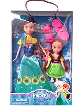 WP Doll Frozen Family in Elegant Turquoise Dress with Skates