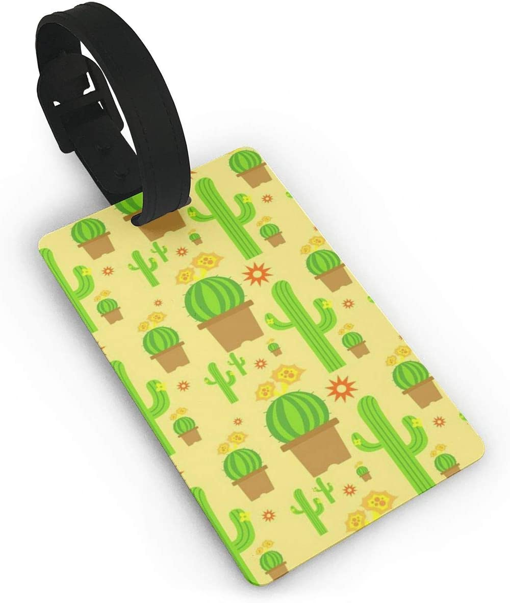 Alligator Watercolor Travel Luggage Tags With Full Privacy Cover Leather Case And Stainless Steel Loop