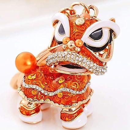 Llavero de león chino con colgante de danza para Navidad y ...