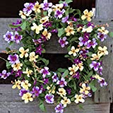Fresh Picked Pansy Wreath 24''