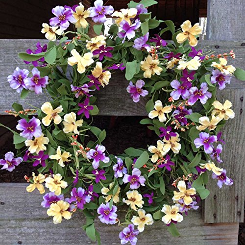 Fresh Picked Pansy Wreath 24""