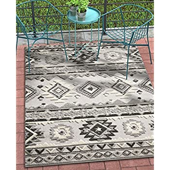 Amazon Com Unique Loom Outdoor Modern Collection Warm