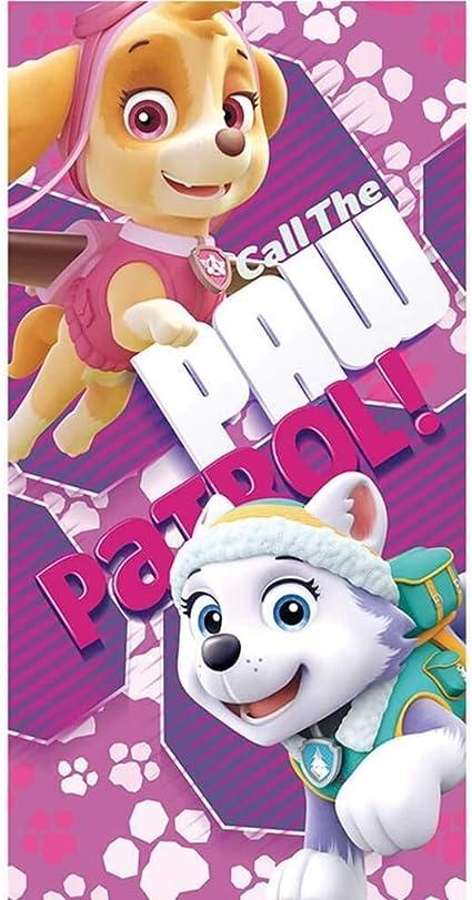 Desconocido Kids Toalla Diseño Paw Patrol, Algodón, Rosa, 30x4x30 ...