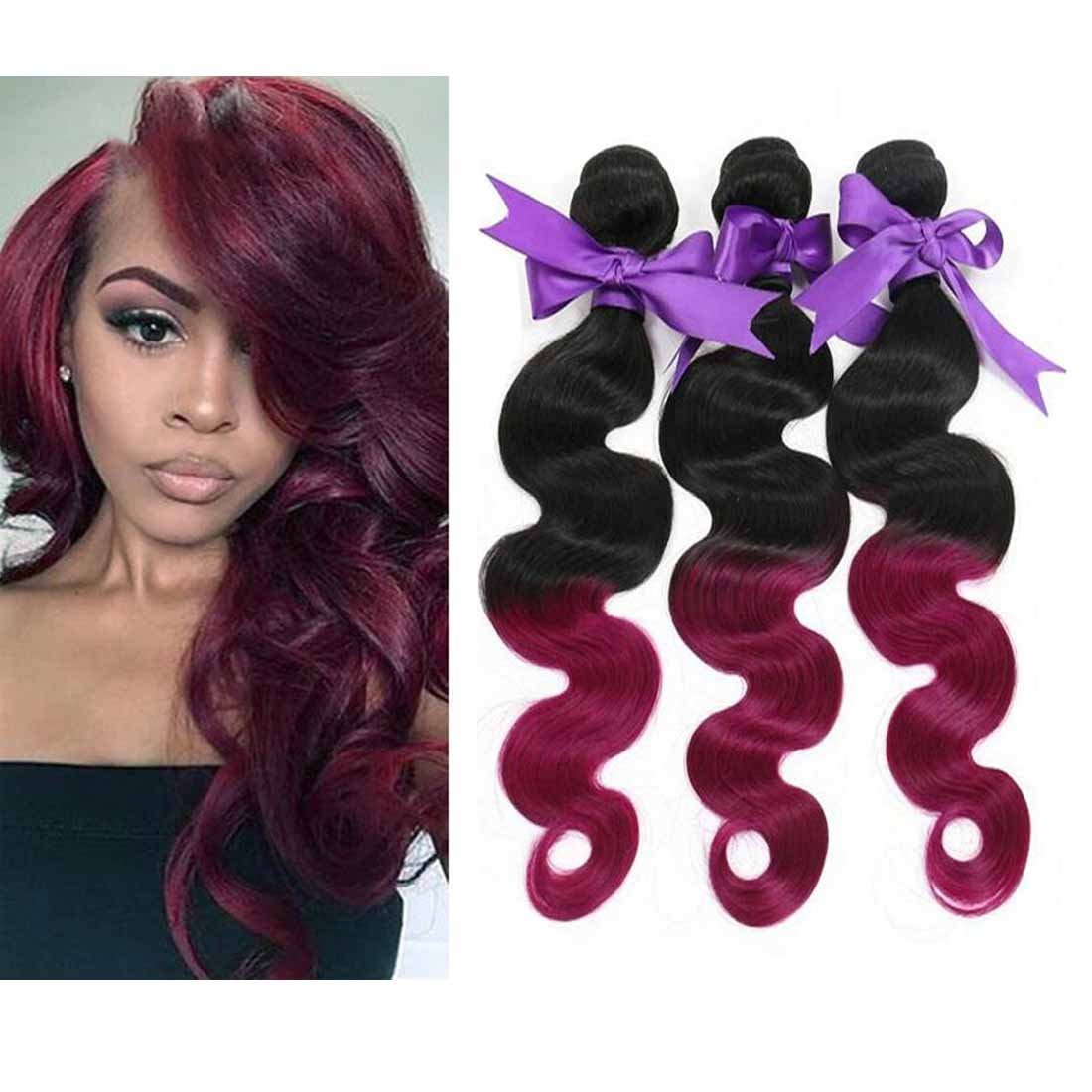 Amazon Angel Hair 5a Ombre Hair Extensions 12 30 Inch Purple