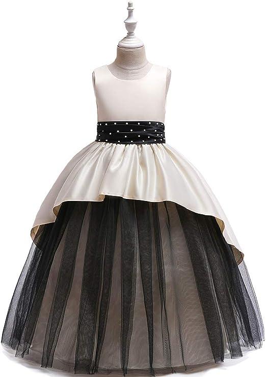 CHANMI Vestido de Princesa de Boda para niñas de 4~12 años Vestido ...