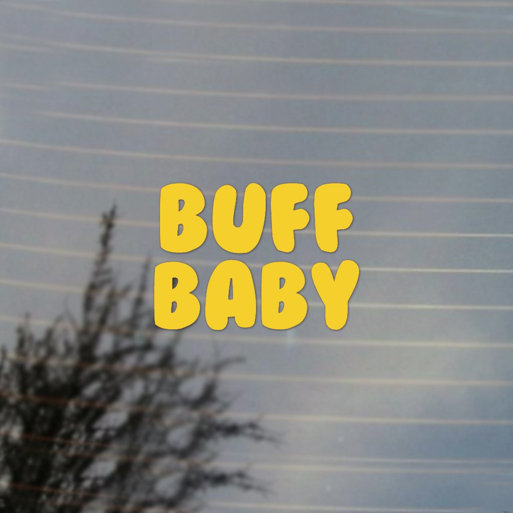 Buff Baby Adventure Cartoonビニールデカール 1.75W X 1.26H Inches イエロー CFGVD234SF  イエロー(Sunflower Yellow) B019EOVGGO