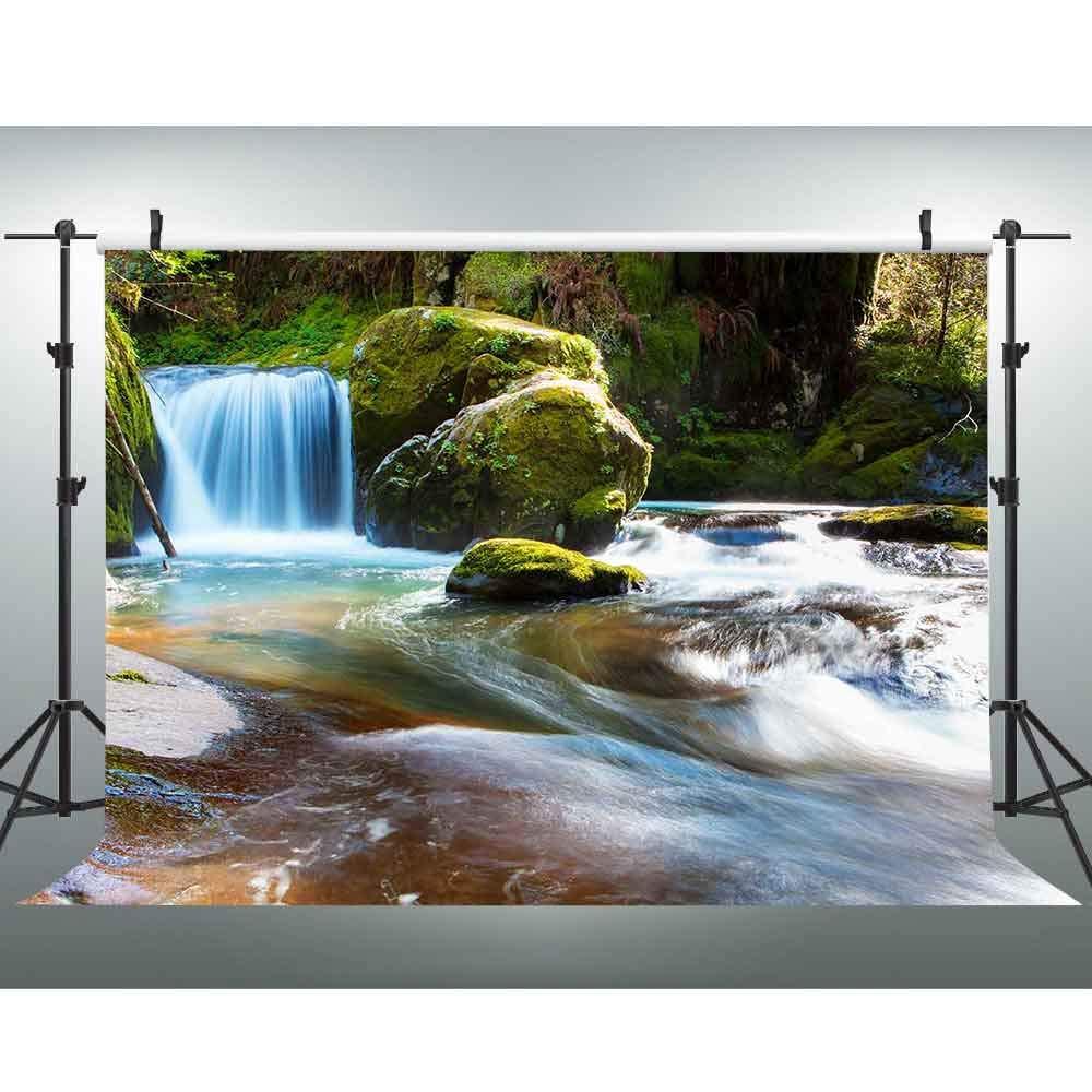 VVM 7x5フィート マウンテンストリーム背景 自然な風景の背景 ビデオ写真スタジオ小道具 LFVV130用   B07HRDR4ZK
