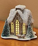 The Lakeside Collection Lighted Miniature Winter Houses - Tall Windows