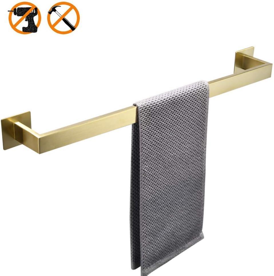 Senza Fori WOMAO con Finitura in Oro Spazzolato Barra Porta Asciugamani Adesiva 60 cm Towel Ring