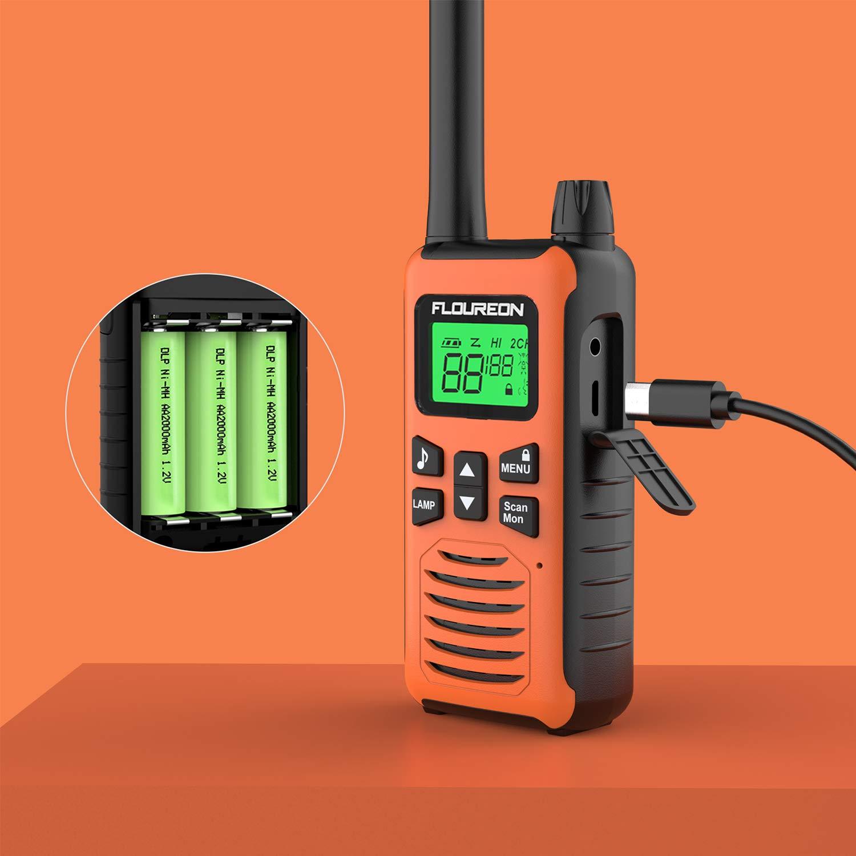 FLOUREON Walkie Talkie Two Way Radios Up to 5000Meters//3 1Miles