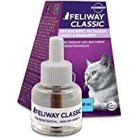 FELIWAY Classic Diffuser Refill, 1-Pack (FELIWAY Refill) - Reassures Cats & Helps Control Unwanted Behaviours Like Urine Spraying, Scratching, Hiding at Home - (30 Day Supply)