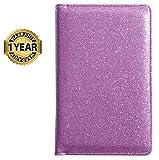 Mymazn Server Book for Waitress Waiter Book Cute Bling Waitstaff Organizer Fit Apron (Pink Purple)