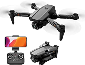 Mini FPV RC Drone with 4K/1080P Dual Camera, Foldable RC Drones Quadcopter RTF, WiFi, VR 3D Experience, 2.4GHz Drones for Kids Beginners