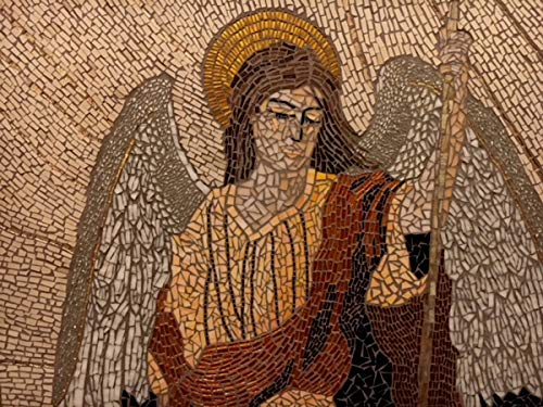 Mosaics Lab Raphael, The Angel of Healing | Mosaic Artwork Masterpiece Handmade with 100% Natural Tiles | This…