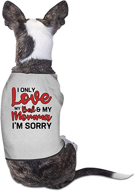 I only love my bed /& my momma I/'m sorry dog shirt