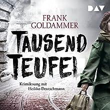 Tausend Teufel Hörbuch von Frank Goldhammer Gesprochen von: Heikko Deutschmann