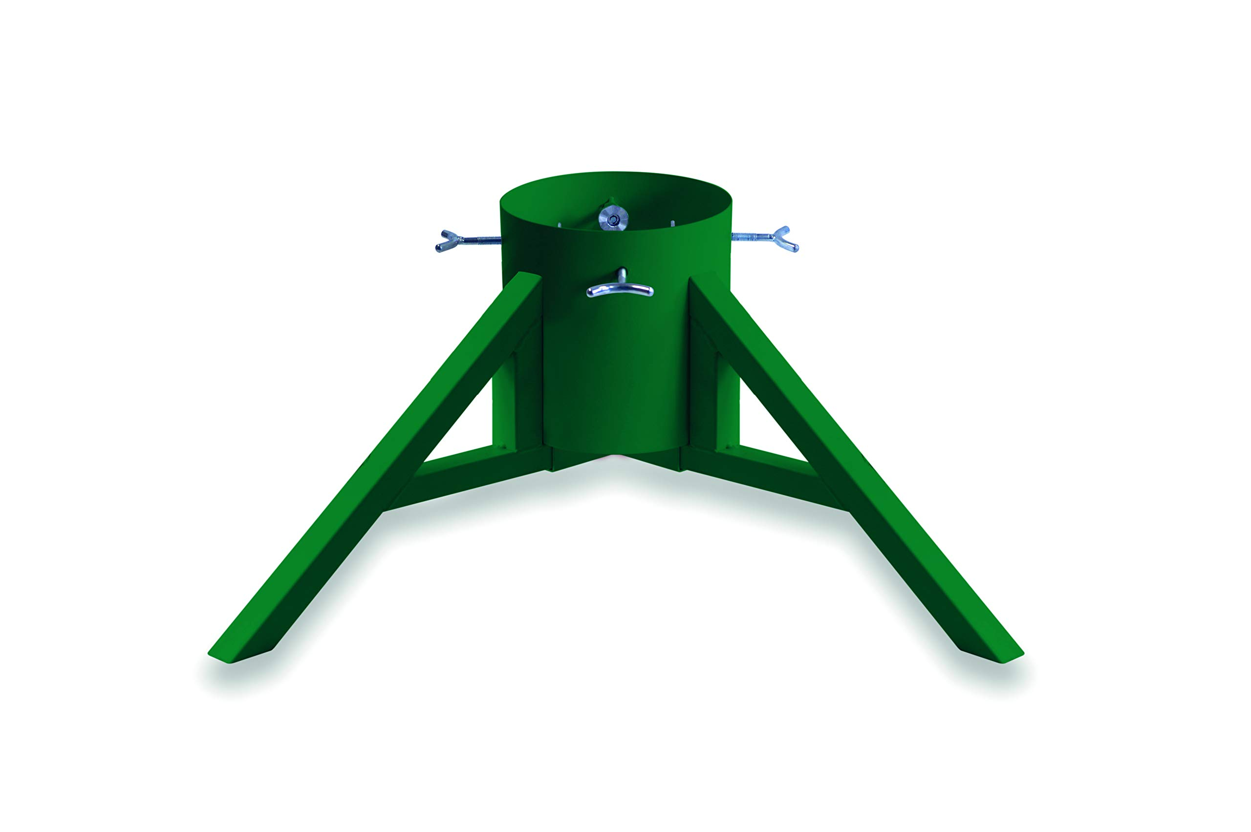 Tree Nest Modern & Sturdy Design Christmas Tree Stand for Real Trees Up to 8.3' Trees Water Reservoir Holds Up to 0.95 Gal (Green)