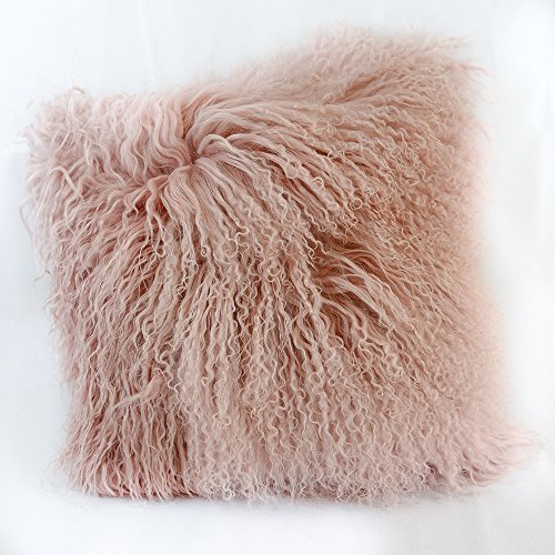 100% Real Mongolian Sheepskin Wool Cushion and Pillow Insert Included Home Decoration For Living Room Bedroom 16