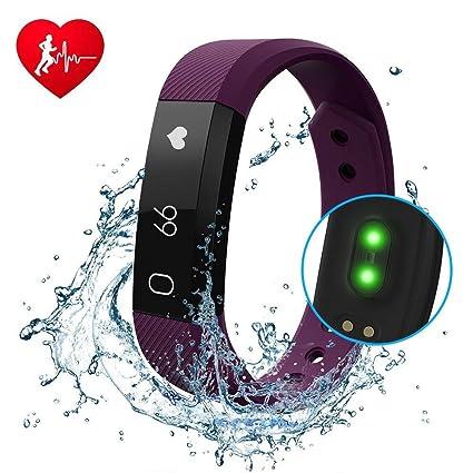 Fitness Tracker diwuer reloj inteligente con ritmo cardíaco monitor pantalla táctil pulsera impermeable a prueba de sudor Sleep Tracker paso Distancia ...