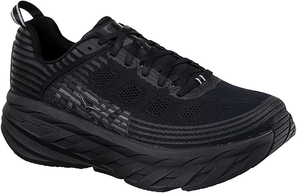 HOKA ONE ONE Mens Bondi 6 Black Black Running Shoe – 12.5