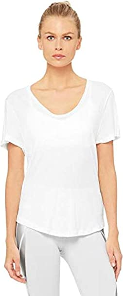 Alo Yoga Womens Playa Tee at Amazon Womens Clothing store
