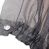 MAZIMARK--2Pcs Car Sun Shade Side Window Curtain Sunshade UV Protection Mesh Fabric Grey