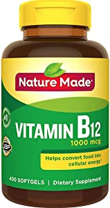 Nature Made Vitamin B12 1000 mcg. Softgels Value Size 400 Ct - New Packaging