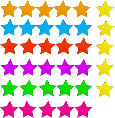 Small Assorted Color Star Magnets