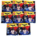 LEGO Party Favors/Party Treats BATMAN MOVIE Kiss Kiss Tuxedo Key Chain Polybags Bundle of 8