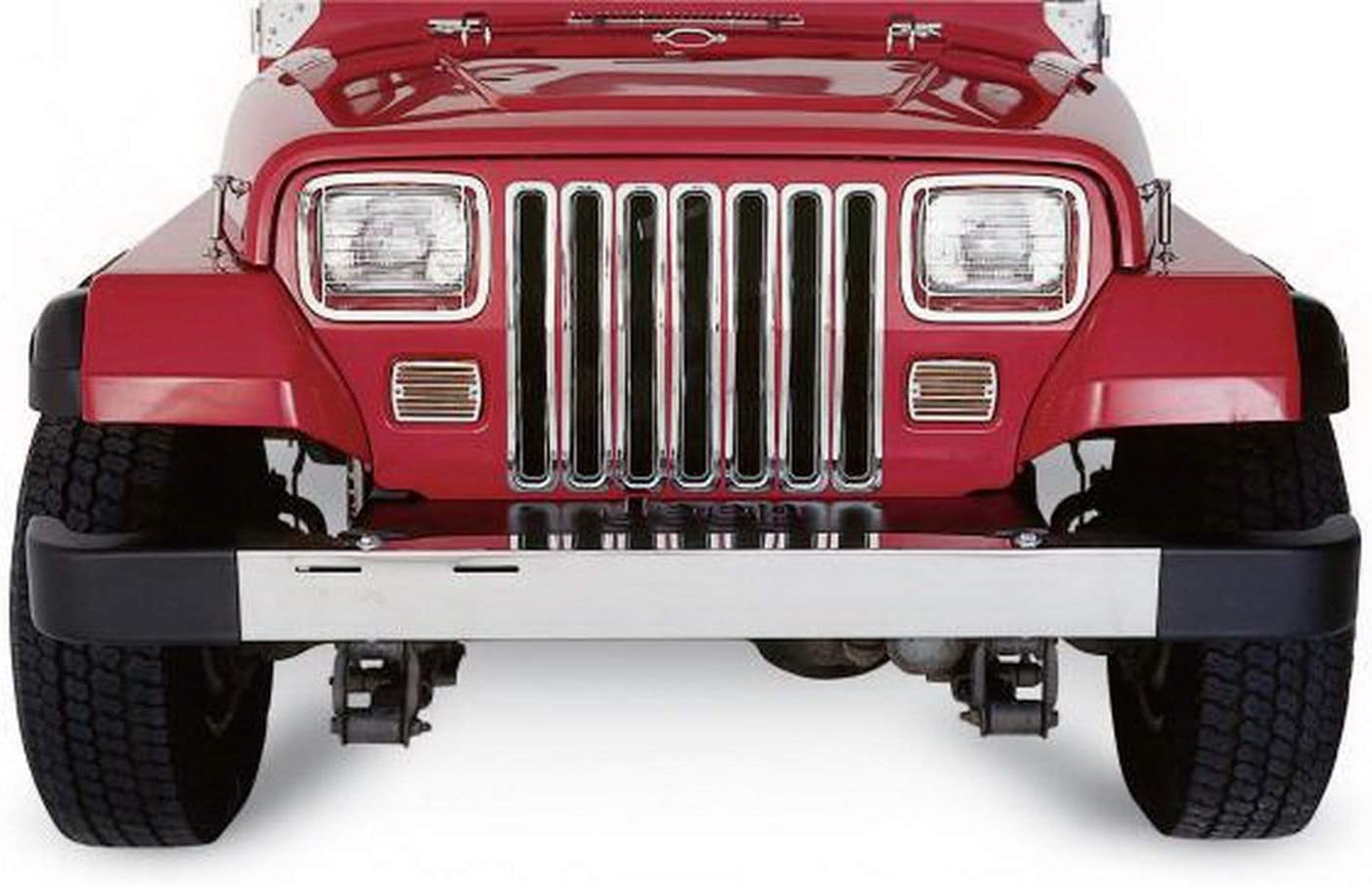 RAMPAGE PRODUCTS 7509 Chrome Grille Insert for 1987-1995 Jeep Wrangler YJ