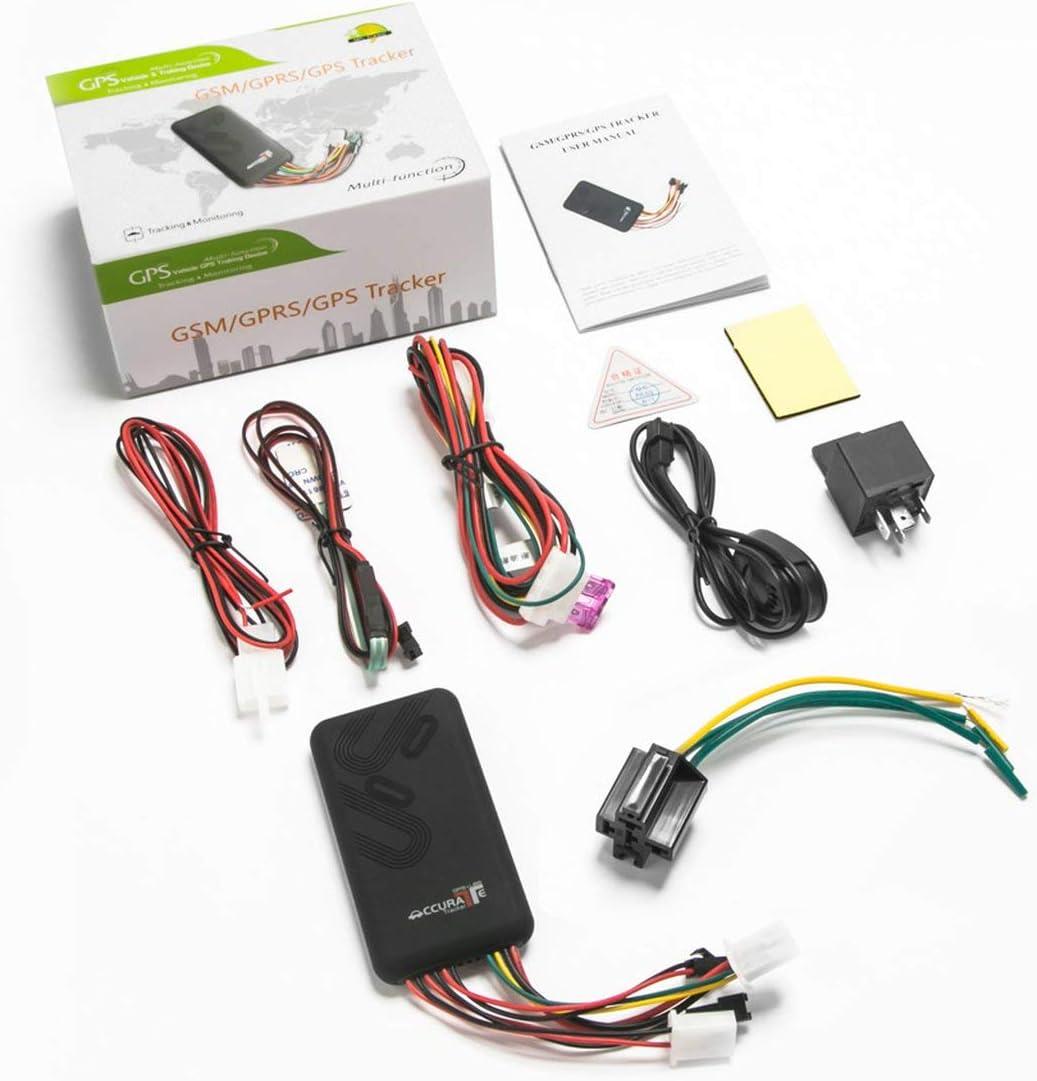 EmNarsissus Gt06 Localizador GPS de automóvil Ubicación de Seguimiento de vehículos Camión Motocicleta Localizador de Alarma antipérdida Dispositivo de posicionamiento en Tiempo Real