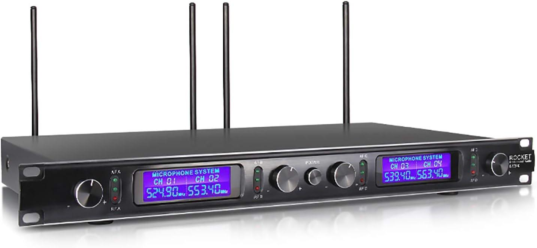 Frequency B XTUGA EW240 UHF 4 Channel Wireless Bodypack Microphone ...