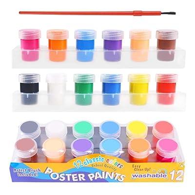 Singa-Z 6/12 Colors/Set Children Finger Painting, Paints Vibrant Colors Washable Gouache Paint Doodle Set for Kids Children: Home & Kitchen