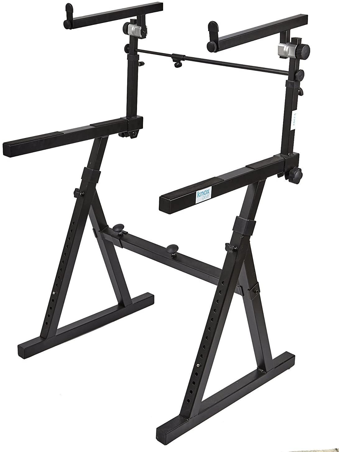 Knox Gear Z-Style Two Tier Electronic Keyboard Piano Stand (Version 2) Bundle (2 Items)