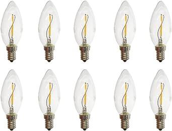 2 Watt LED Kerze klar Filament Lampe E14 warmweiss LED Birne Kerzenform 2700K