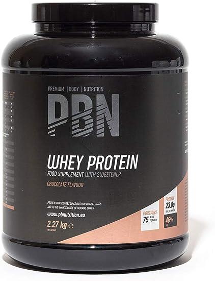 Premium Body Nutrition - Aislado de proteína de suero de leche en polvo (Whey-ISOLATE), 2,27 kg, sabor chocolate (75 porciones) + PBN Proteína de ...