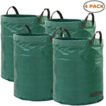 Ohuhu Garden Waste Bags, 72 Gallons Reusable Yard Leaf Bag, Durable & Portable Garden Storage Bags with Dual Handles, 4 Pack