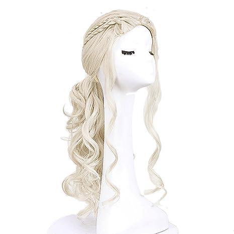 Vococal - 65CM Peluca de pelo para mujer,Largo Rizado Fibra Pelucas Disfraz Baratas onduladas