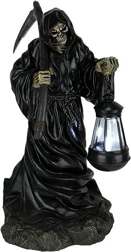 World Of Wonders Grim Reaper Walking LED Solar Powered Outdoor Lantern Statue