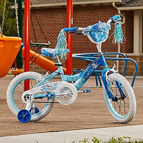 NEW DISNEY PRINCESS FROZEN ANNA AND ELSA GLOBE KIDS BIKE BICYCLE SNOWFLAKE BELL