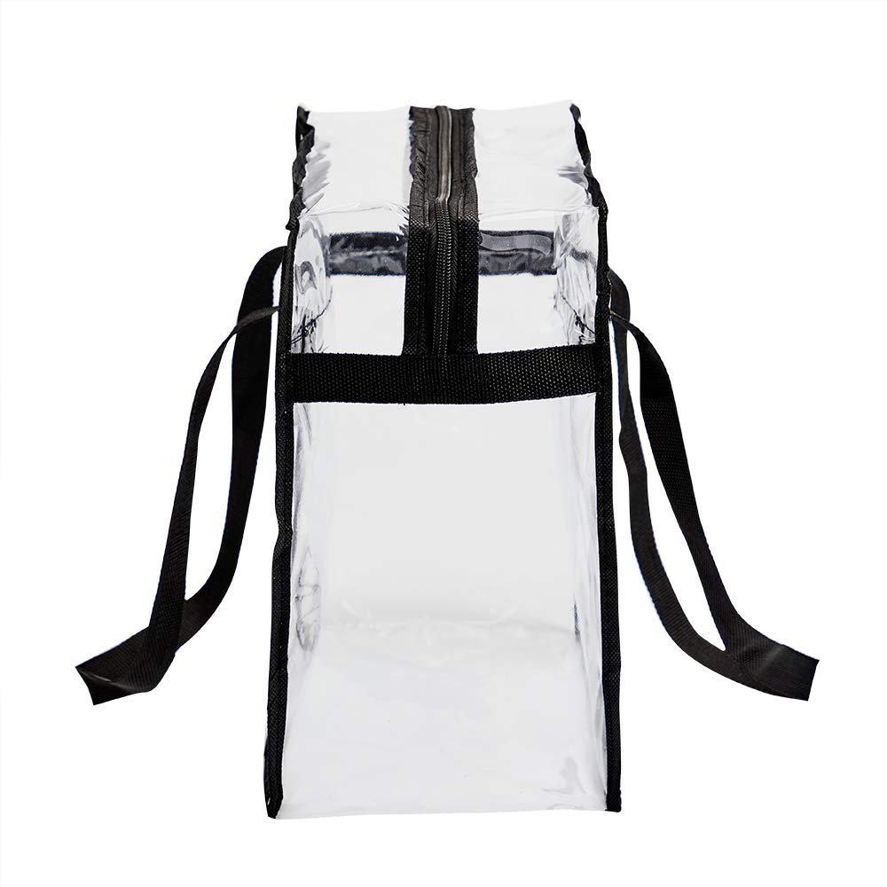 """12/"""" x 12/"""" x 6/"""" Sports Games and Concerts Stadium Security Travel /& Gym Clear Bag Perfect Clear Shoulder Bag for Work 2-Pack Clear Tote Bag Stadium Approved"""