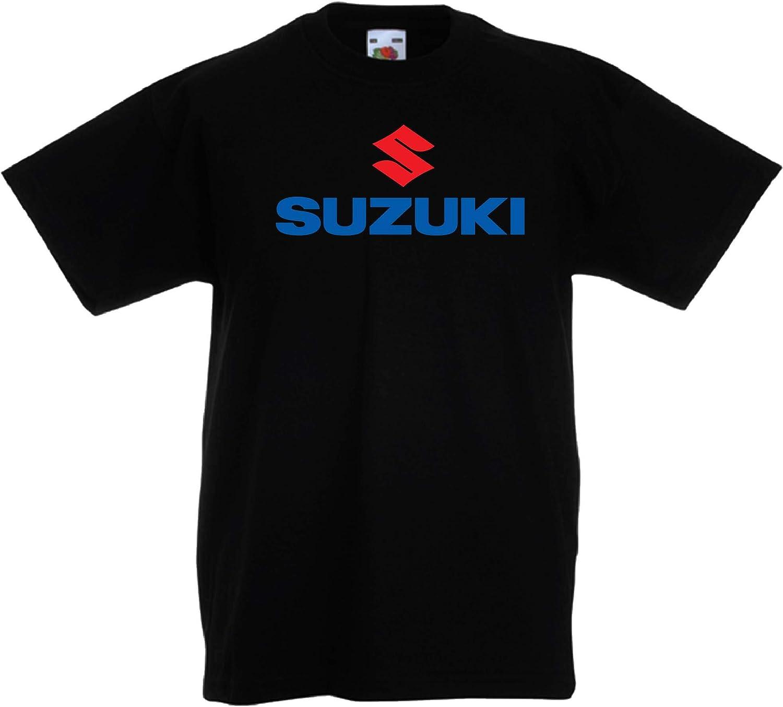 kid Suzuki Logo Car Auto Gar/çon T-Shirts Shirt Black White Grey Red Blue Gar/çon T-Shirts Shirt V/êtements Present Christmas