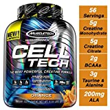 MuscleTech Cell Tech Creatine Monohydrate Formula Powder, HPLC-Certified, Improved Muscle Growth & Recovery, Orange, 56 Servings (6 lbs)