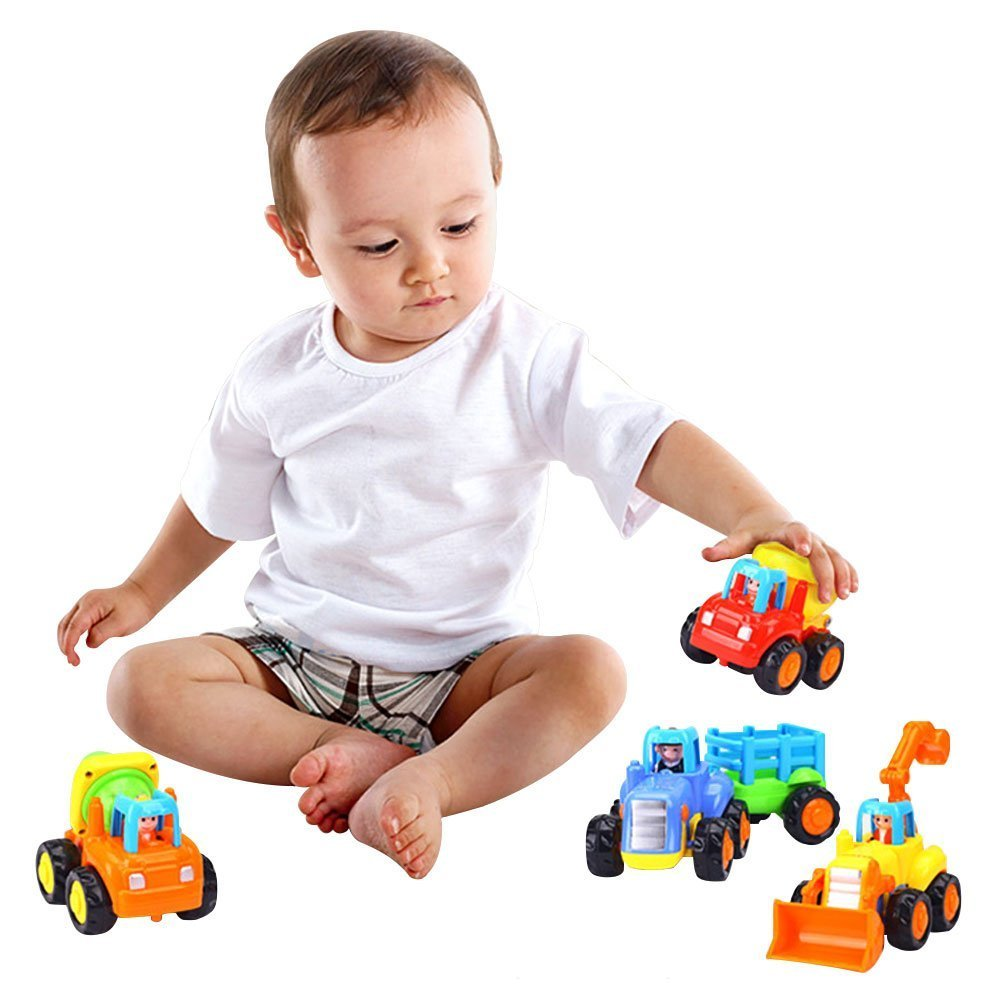 Wolson Push and Go Friction Powered Car Toys Engineering Vehicles Set Tractor Bulldozer Mixer Truck and Dumper for Baby Toddlers by Wolson (Image #7)