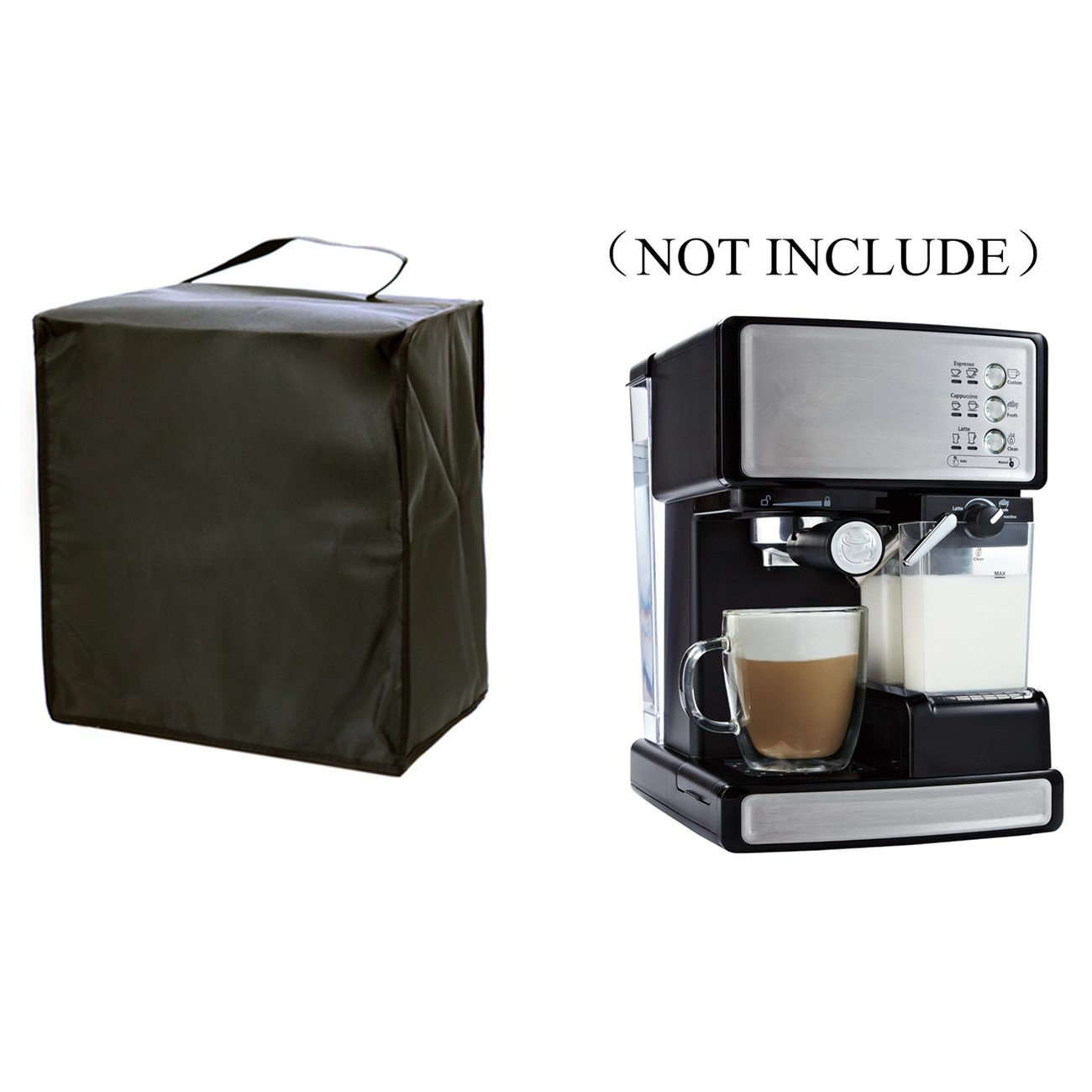 Orchidtent Coffee Maker dust Cover – 13W x 14D x 13H-Waterproof, Universal Fit- Fits ECMP1000 Coffee Maker Espresso / Cappuccino (For ECMP1000)