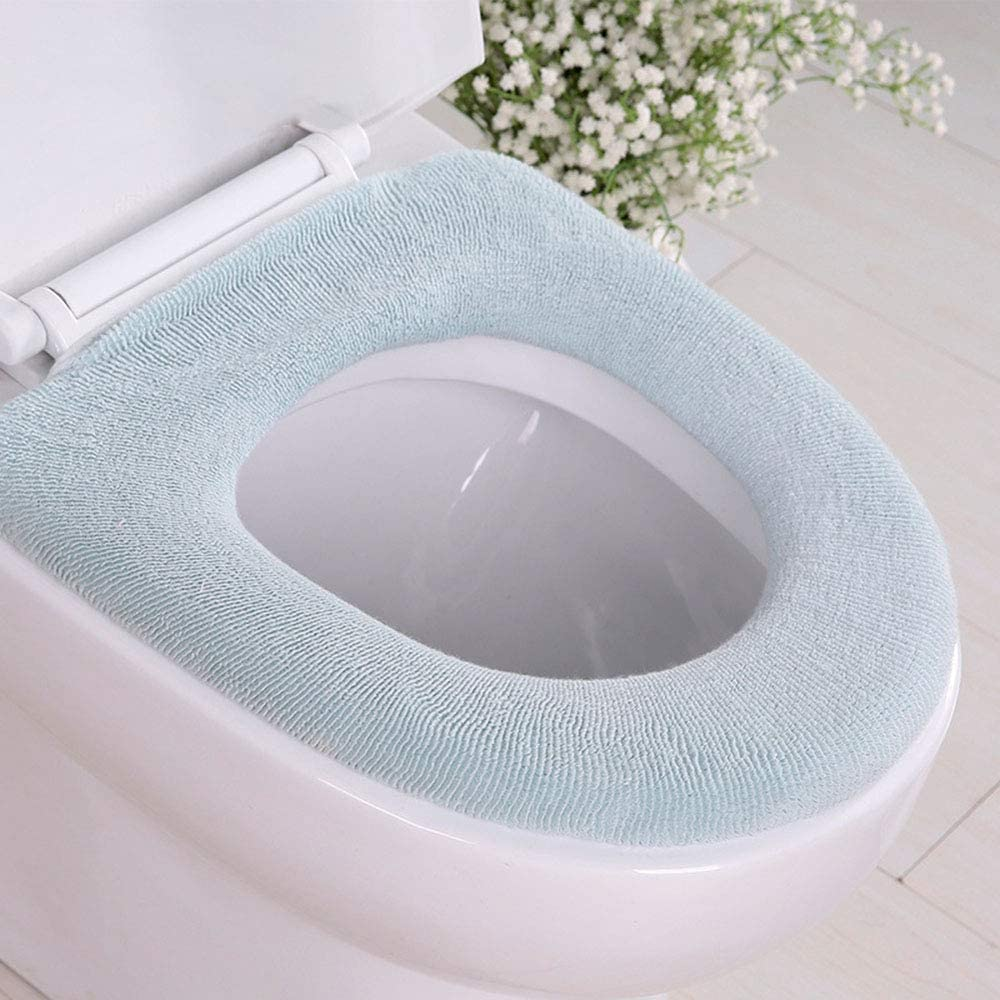 Coffee CAMSTIC Thickened Machine Washable Soft Warm Plush Cushioned Toilet Seat Cover