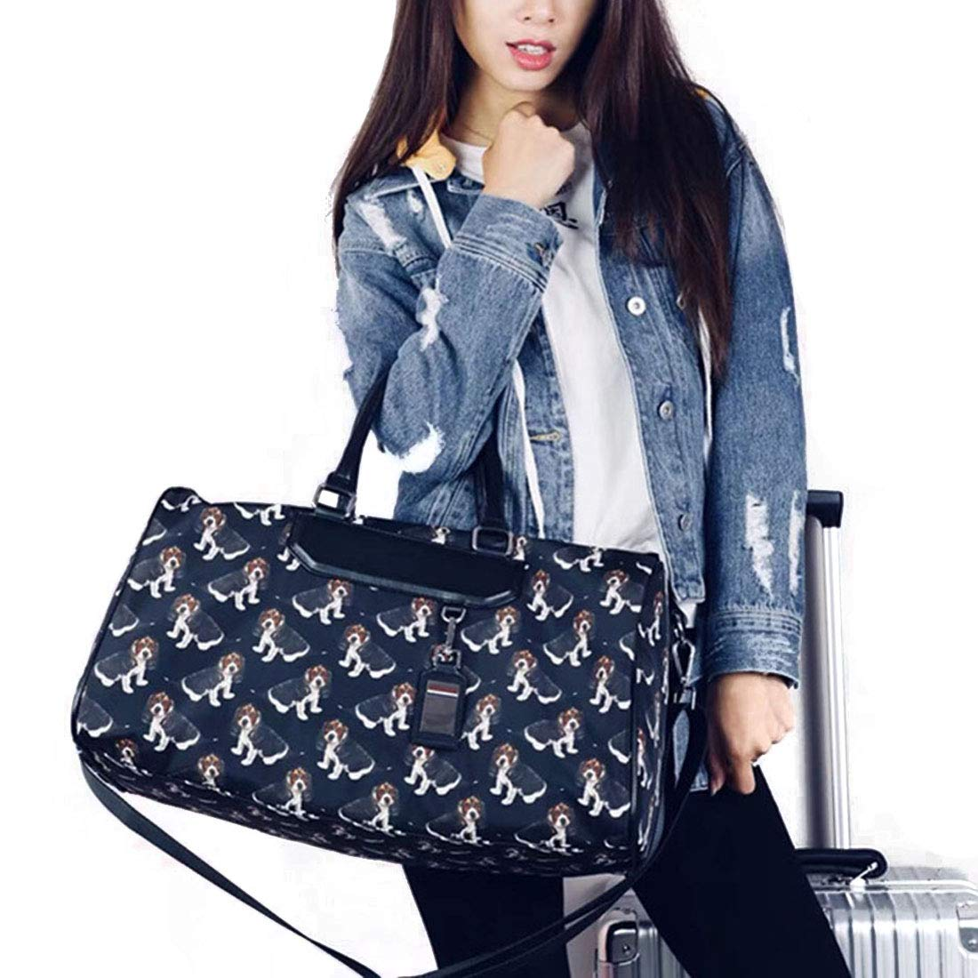 MATCHANT Short Trip Package Puppy Flower Travel Bag Hand Bag Gym Bag Outdoor Handbags Casual Business Bag Shoulder Bag